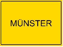 Ortsschild Münster 208 x 155